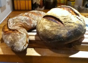 The finished product - Wurzlebrot and Sourdough