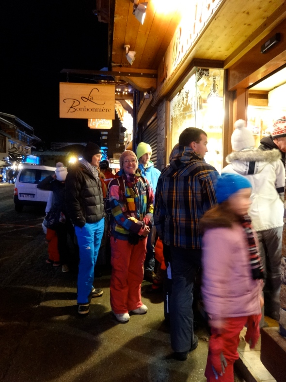 Queue for Baguette on New Years Eve