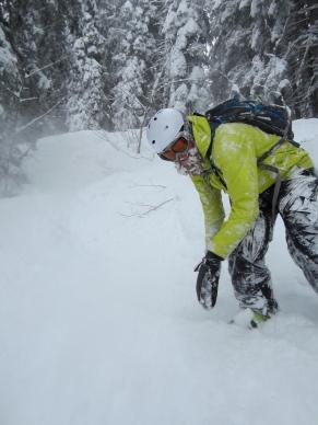 A mighty beard of snow. Captain Snowbeard rides again...