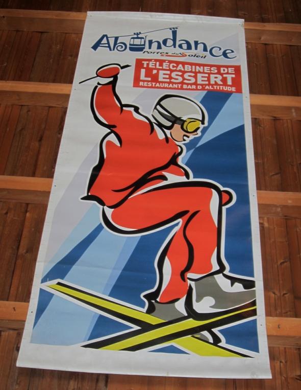 Abondance retro styled banner