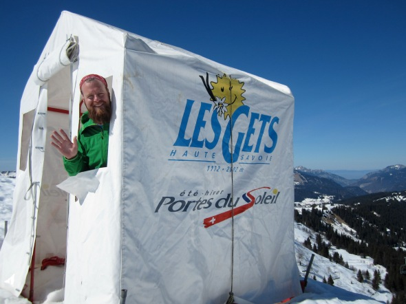 Les Gets - Mountain refuge hut for a sunny day