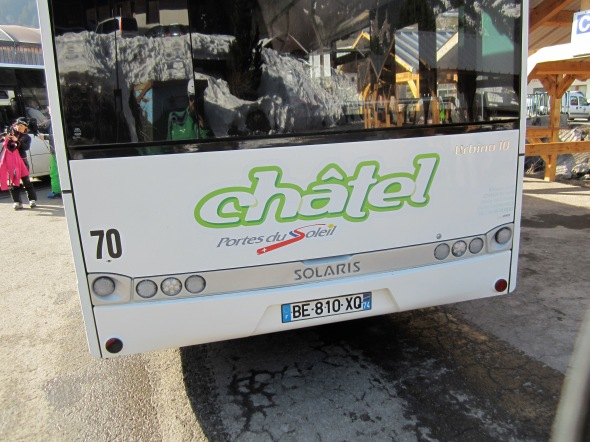 Chatel Town bus to get from Chatel to Super Chatel and Petit Chatel