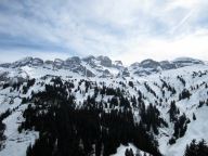 Panoramic view from Restaurant Les Clavets