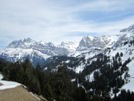Panoramic view from Restaurant Les Clavets.