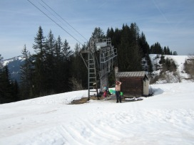 One of the two lifts that had been decommissioned for the season