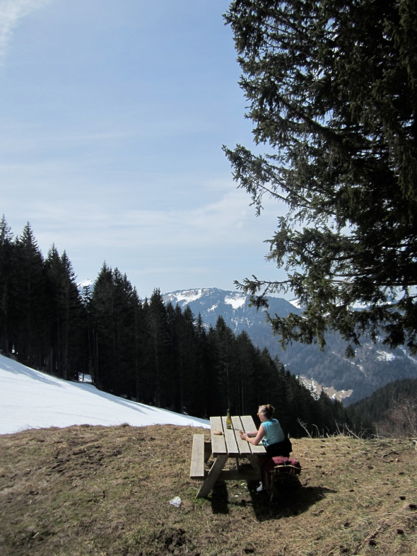 One of our best lunch spots all season, just us at the top of Col De Follys