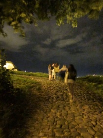 Walking the cobblestone street to Belgrade Fort