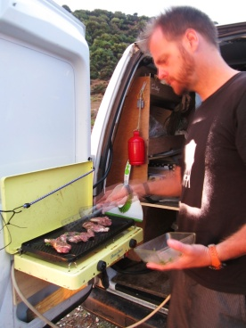 Lamp chops from our Goceada butcher on the Jumpy grill