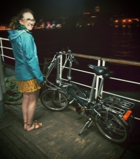 The boat back to the European side where short dresses are a little more accepted and twin Dahon Boardwalk fold-ups.