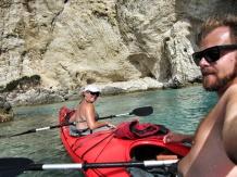 Day 3 kayak selfie and big white cliffs