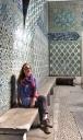 Blue tiled wall of the harem quarter of the Tokapi Palace