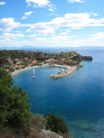 Just another postcard Greek waterside village