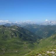 View from Tromedja prevoj Trekufit: Albania.