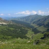 View from Tromedja prevoj Trekufit: Montenegro.
