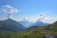 View from Tromedja prevoj Trekufit: Kosovo.